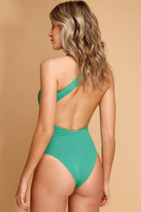 Swimsuit Candy Green - WaveFit Activewear