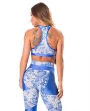 Load image into Gallery viewer, Sports Bra Fierce Blue - Let's Gym