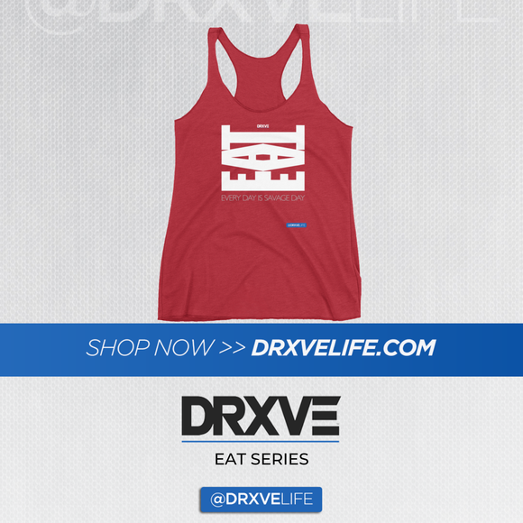 EAT BEAST - DRXVE Women's Red Racerback Tank