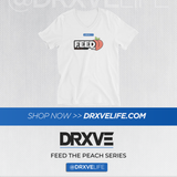 FEED THE PEACH POP v2 - DRXVE Short Sleeve V-Neck T-Shirt