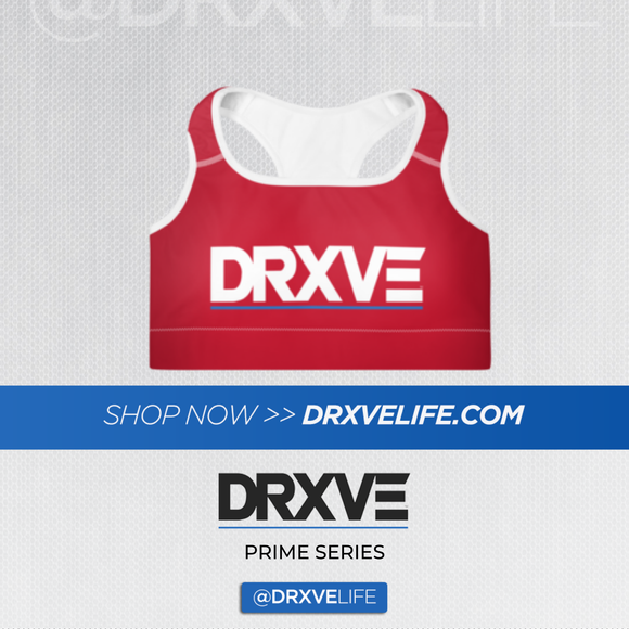 DRXVE TOP - Padded Red Sports Bra