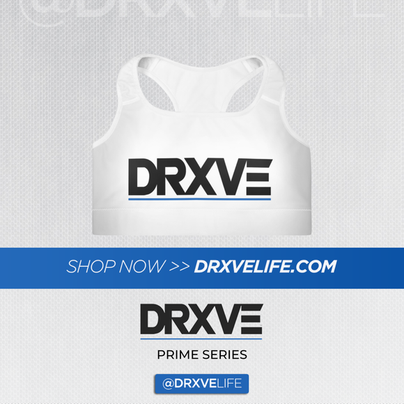 DRXVE TOP - Padded White Sports Bra