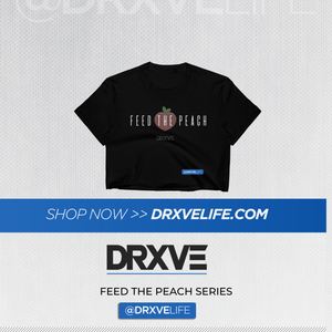 FEED THE PEACH Minimal - DRXVE Women's Crop Top