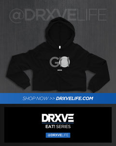 DRXVE EAT - GO Black Cropped Hoodie for Women - Houston Trainer