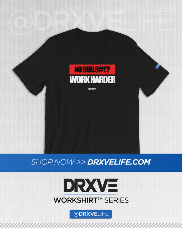 NO BULLSH!T - DRXVE Workout Shirt (Multiple Colors Available)