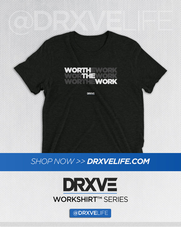 WORTH THE WORK v2 - DRXVE Triblend T-Shirt