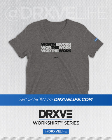 WORTH THE WORK v2 - DRXVE Triblend Workout Shirt