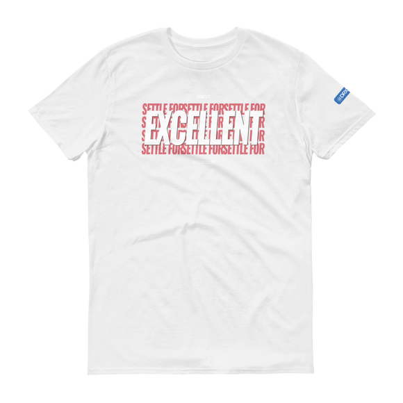 SETTLE FOR EXCELLENT V2 RED - Unisex Workout Shirt (Multiple Colors Available)