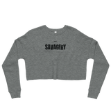 SAVAGERY Dark - DRXVE Crop Sweatshirt