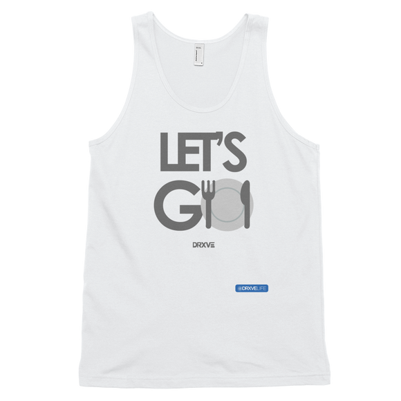 LET'S GO - DRXVE Unisex White Tank Top