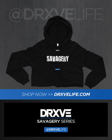 SAVAGERY STEALTH CROP - DRXVE Crop Hoodie for Women