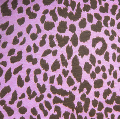 Anita G Brown Leopard on Pink Cotton Jersey