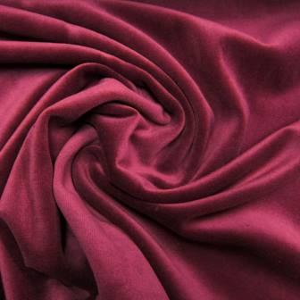 Sparkling Burgundy Cotton Velour