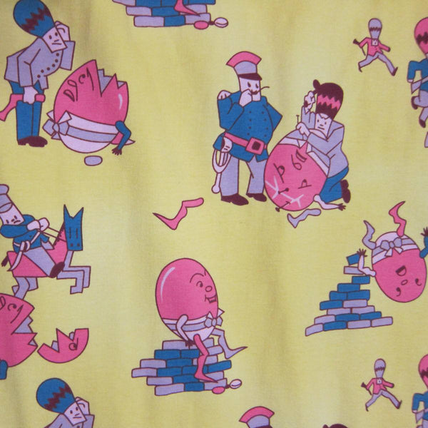 Humpty Dumpty on Yellow Cotton/Spandex Jersey