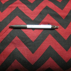 Red and Black Chevron on Cotton/Poly Jersey