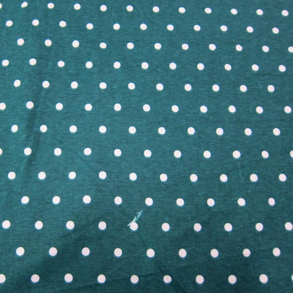 White Dots On Hunter Cotton Jersey