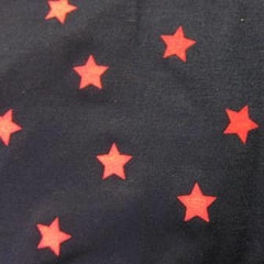 Pink Stars on Navy Cotton/Spandex Jersey