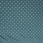 Micro White Dots on Green Cotton/Poly Jersey
