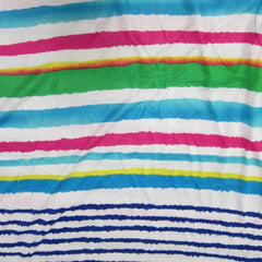 Summer Stripe on Cotton/Poly Jersey