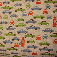 Cars and Pump on Gray Cotton Rib