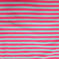 "Blue and Pink 3/8"" Stripes on Cotton/Spandex Jersey"