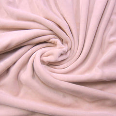 Peach Cotton Velour