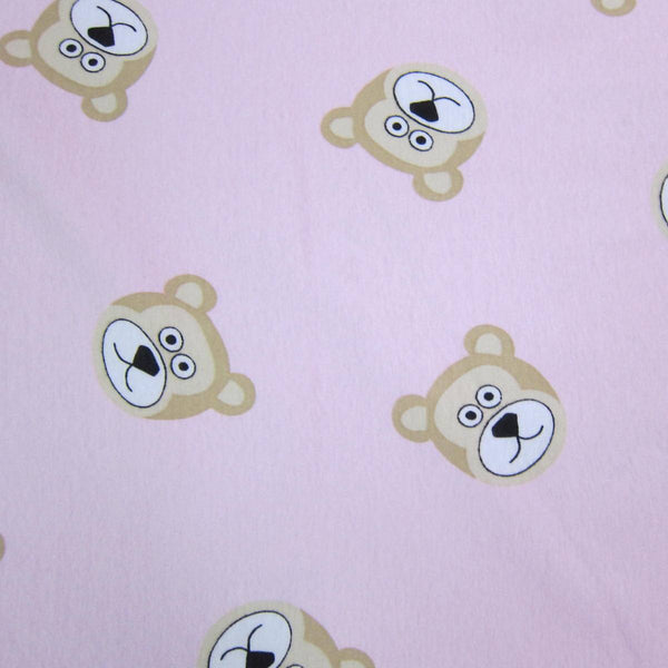 Bears on Pink Cotton Rib