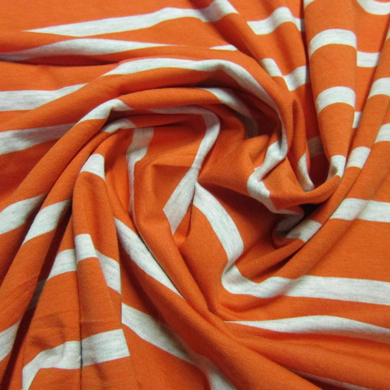 Carrot Stripe Bamboo/Spandex Jersey