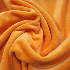 Orange Cotton Velour