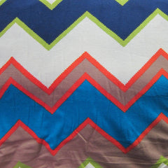 Seneca Zig Zag on Cotton/Spandex Jersey