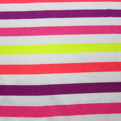 Neon Rainbow Stripe 2x2 Cotton Rib