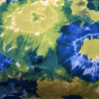 Blue and Green Dye Suedecloth