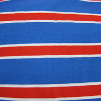 Red and White Stripes on Blue Cotton Jersey