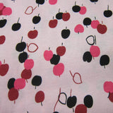 Cherry Toss on Pink Cotton Jersey