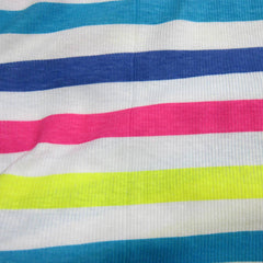 Rainbow Stripe 2x2 Cotton Rib