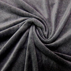 Slate Gray Cotton Velour