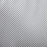 Black Micro Dots On White Cotton Jersey