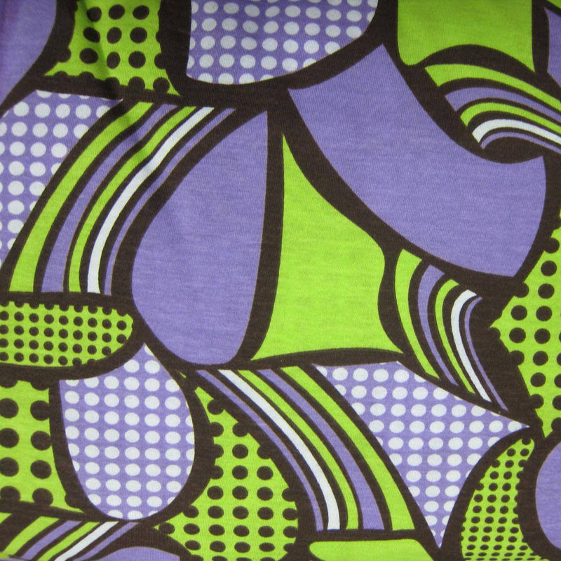 Anita G Brown Purple and Lime Deco Cotton Jersey