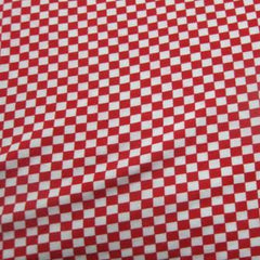 Red and White Squares Cotton/Poly Jersey
