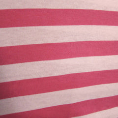 Pink Two Tone Stripe Cotton Jersey