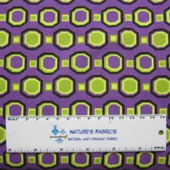 Green Hex on Purple Cotton/Spandex Jersey