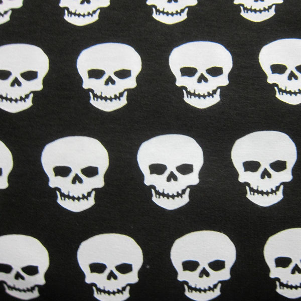 White Skulls Cotton Jersey