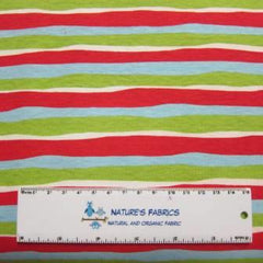Wavy Holiday Stripe on Cotton/Spandex Jersey