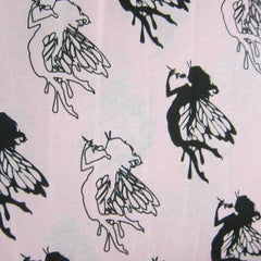 Fairy Outline on Pink Cotton Jersey
