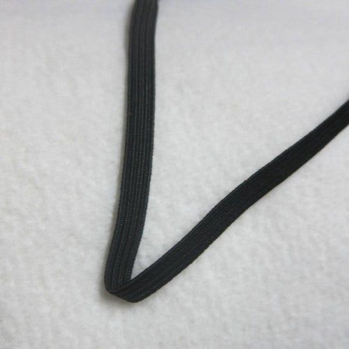 "3/8"" Black Polybraid Elastic"