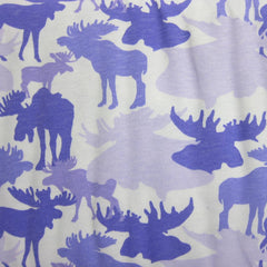 Purple Elk Camouflage on Cotton Jersey