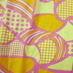 Anita G Pink and Yellow on Cotton Jersey