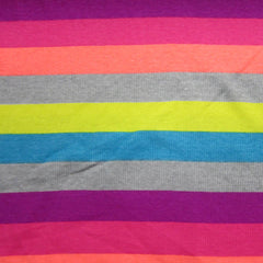 Vibrant Stripe 2x2 Cotton Rib