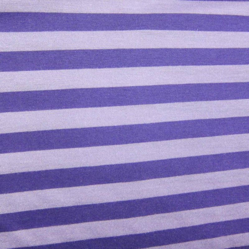 "Purple on Purple 1/2"" Stripe Cotton/Spandex Jersey"