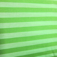 Green on Green Stripe on Cotton Jersey
